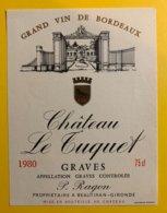 11919 - Château Le Tuquet 1980 Graves - Bordeaux