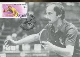 48149 Belgium, Maximum 1988, Tennis De Table  Tischtennis   Table Tennis - Table Tennis