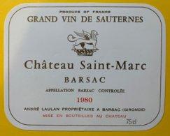 11921 - Château Saint-Marc 1980 Sauternes - Bordeaux