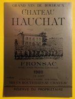 11922 - Château Hauchat 1980 Fronsac - Bordeaux