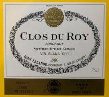 11923 - Clos Du Roy 1980 - Bordeaux