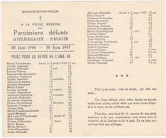 Paroissiens Défunts D'HERSEAUX - St-MAUR / 30 Juin 1946 - 30 Juin 1947 - Religión & Esoterismo