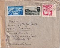 ROUMANIE 1951 LETTRE CENSUREE POUR AACHEN - Cartas