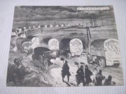 Fiche Photo - Document - Dossier 185 Guerre 14/18 - No 16. LA VOIE SACREE DE VERDUN LA NUIT - 1914-18