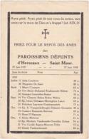 Paroissiens Défunts D'Herseaux - Saint-Maur / 27 Juin 1937 - 27 Juin 1938 - Religión & Esoterismo