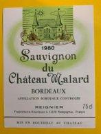 11926 -  Sauvignon Du Château Malard 1980 - Bordeaux