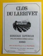 11927 - Clos Du Larrivet 1980 - Bordeaux
