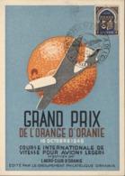 CP Grand Prix Orange D'Oranie 16 10 1949 Course Internationale Vitesse Pr Avions Légers Groupement Philatélique Oranais - Algeria (1924-1962)