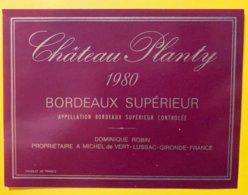 11930 - Château Planty 1980 - Bordeaux