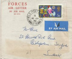 Northern Ireland UK 1970 FPO 576 Lisburn IRA Campaign Forces Air Letter - Northern Ireland