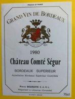 11931 - Château Comté Ségur 1980 - Bordeaux