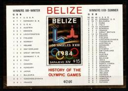 Olympic Games 1984 , Belize - Blok  Postfris - Summer 1984: Los Angeles