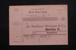 ALLEMAGNE - Mandat Privé De La Banque De Berlin Non Circulé - L 44024 - Germany