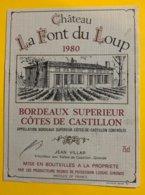 11935 - Château La Font Du Loup 1980 - Bordeaux