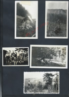 SCOUTISME LOT DE 9 PHOTOS DE SCOUTES VIE AU CAMP DE VALMOREY 1934 : - Scoutisme