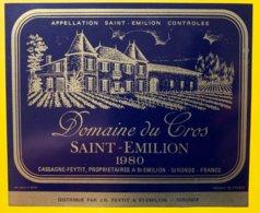 11938 - Domaine Du Cros 1980 Saint-Emilion - Bordeaux