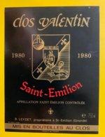 11939 - Clos Valentin 1980 Saint-Emilion - Bordeaux