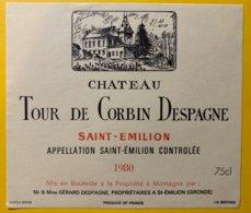 11940 - Château De Tour Corbin Despagne 1980 Saint-Emilion - Bordeaux