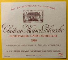 11941 - Château Maison Blanche 1980  Montagne-Saint-Emilion - Bordeaux