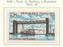 PIA  - FRANCIA  - 1968 : Ponte Di Martrou A Rochefort  - (Yv  1564) - Ponti