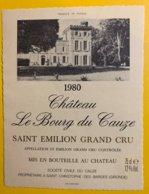 11943 - Château Le Bourg Du Cauze 1980 Saint-Emilion - Bordeaux