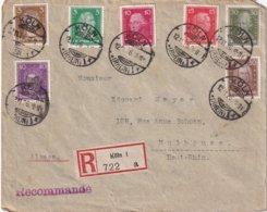 ALLEMAGNE 1926 LETTRE RECOMMANDEE DE KÖLN AVEC CACHET ARRIVEE MULHOUSE - Deutschland
