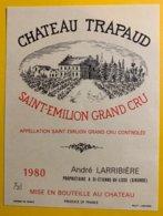 11944 - Château Trapaud 1980 Saint-Emilion - Bordeaux