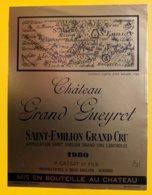 11945 - Château Grand Gueyrot 1980 Saint-Emilion - Bordeaux