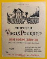 11946 - Château Vieux Pourret 1980 Saint-Emilion - Bordeaux