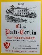 11948 - Clos Petit Corbin 1980 Saint-Emilion - Bordeaux