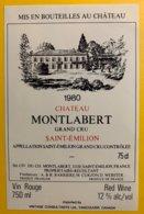 11950 - Château Montlabert 1980 Saint-Emilion - Bordeaux