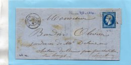 P.c.412 BLENEAU (83) Sur N°14 I,L.A.C. Du 8/3/60. - Postmark Collection (Covers)
