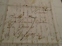 1816- LOT -Lettre Manuscrite +TAXEE + IND/6 +Départ  44 FIGEAC  Pour LYON - 4 Photos/ - Marcophilie (Lettres)