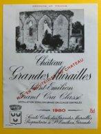 11951 - Château Grandes Murailles 1980 Saint-Emilion - Bordeaux