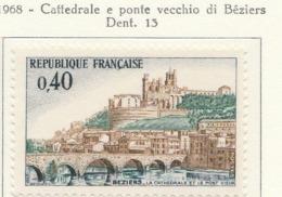 PIA  - FRA - 1968 : Cattedrale E Ponte Vecchio Di Béziers- (Yv  1566) - Ponti