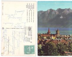 Svizzera Lausanne La Cathédal Et Les Alpes (A) - VD Vaud