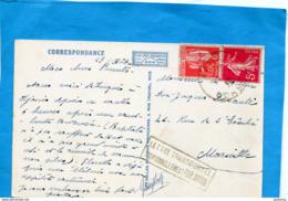 """Carte De Corse-""""transportée Exeptionnellement Par Avion--cad Ajaccio 1932-3 Date Mal Frappée - Poste Aérienne"""