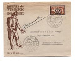 OBLITERATION FOIRE DE METZ 1954 - Marcophilie (Lettres)