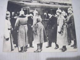 Fiche Photo - Document - Dossier 185 Guerre 14/18 - No 23 BREST-LITOVSK L'arrivée Des Plénipotentiaires Russes - 1914-18