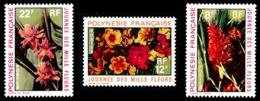 POLYNESIE 1971 - Yv. 83 84 85 **   Cote= 12,80 EUR - Journée Des Mille Fleurs (3 Val.)  ..Réf.POL24326 - Neufs