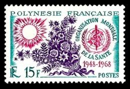 POLYNESIE 1968 - Yv. 60 **   Cote= 12,00 EUR - Organisation Mondiale De La Santé (OMS)  ..Réf.POL24313 - Polynésie Française