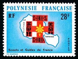 POLYNESIE 1971 - Yv. 91 **   Cote= 16,30 EUR - Scouts Et Guides De France  ..Réf.POL24331 - Neufs