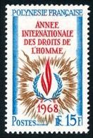 POLYNESIE 1968 - Yv. 62 **   Cote= 13,20 EUR - Année Intern. Des Droits De L'Homme  ..Réf.POL24315 - Polynésie Française