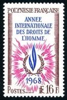 POLYNESIE 1968 - Yv. 63 **   Cote= 13,20 EUR - Année Intern. Des Droits De L'Homme  ..Réf.POL24316 - Polynésie Française