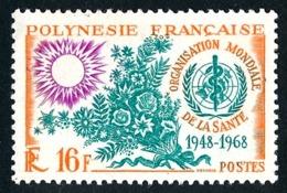 POLYNESIE 1968 - Yv. 61 **   Cote= 12,00 EUR - Organisation Mondiale De La Santé (OMS)  ..Réf.POL24314 - Polynésie Française