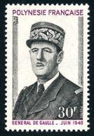 POLYNESIE 1971 - Yv. 89 **   Cote= 22,70 EUR - Général De Gaulle  ..Réf.POL24329 - Neufs