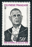 POLYNESIE 1971 - Yv. 90 **   Cote= 32,50 EUR - Général De Gaulle  ..Réf.POL24330 - Neufs
