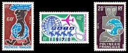 POLYNESIE 1970 - Yv. 77 78 79 **   Cote= 48,00 EUR - Association Touristique 'PATA' (3 Val.)  ..Réf.POL24322 - Neufs