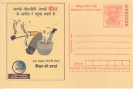 India  2008  Cigarettes Smoking Causes Cancer  Mahatma Gandhi  Postcard   # 16322  D  Inde Indien - Disease