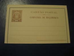 50 Reis Elephant Cartao Postal Companhia De Moçambique MOZAMBIQUE Portugal Colonies Postal Stationery Card - Mozambique